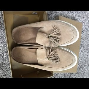 Gentle Soul Suede Mule with tassel by Kenneth Cole